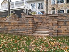 residential exterior steps and retaining wall - Google Search