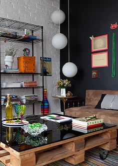 mesa de pallets - office inspiration