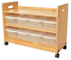 Toy Organizer with Casters
