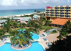 Hotel Barcelo Arenas Blancas Resort 4 star hotel is situated right on the oceanfront of Varadero beach, Cuba's famous beach destination. This 23KM never ending beach, also called as Playa Azul beach, has a massive expanse of fine white sand and crystal clear turquoise waters.
