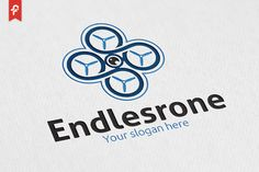 Endless Drone Logo by ft.studio on @creativemarket