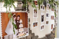 tutorial for a simple hanging photo backdrop.  Perfect for a birthday, graduation party, or anniversary.