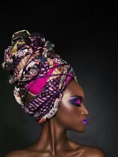 turban and pink and purple makeup African Beauty, African Women, African Fashion, African Style, Ghanaian Fashion, Ankara Fashion, African Makeup, Nigerian Fashion, African Design