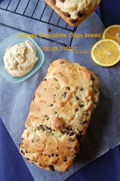 Orange Chocolate Chips Bread with Orange Butter This stuff is BETTER THAN ANY FANCY BAKERY!#bread #breakfast #orangebread #orangebutter
