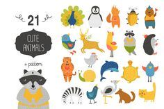 Check out Cute animals collection+pattern by Tatiana Karpenko on Creative Market