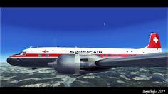 DC-6 von Just Flight auf dem Weg nach Amsterdam