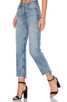 GRLFRND x REVOLVE Helena High-Rise Straight Jean in My Sharona