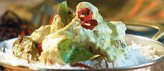 Frango Índiano com Iogurte-Curry | Aves > Receitas com Frango | Receitas Gshow