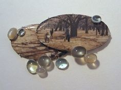 Bettina Speckner,  Brooch 2010 Photo in Enamel, Silver, Aquamarins, Moonstones