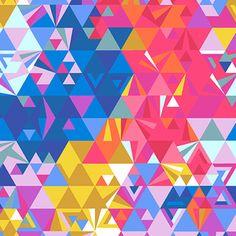 Love the geometric prints Alison Glass - Ex Libris - Geometry in Sunset