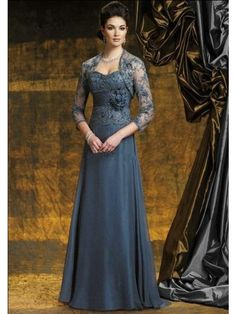 Dark Gray Custom Lace Jackets Plus Size Mother Of The Bride Dresses