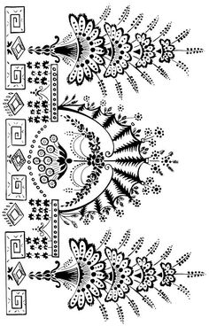 ::ARTESANATO VIRTUAL - Tecnicas de Artesanato | Dicas para Artesanato | Passo a Passo:: White Embroidery, Embroidery Patterns, Hand Embroidery, Print Patterns, Stencil Art, Stencil Designs, Alpona Design, Patterns In Nature, Nature Pattern