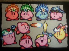 Kirby Star perler beads by Cranberrychan