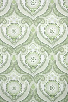 green retro damask vintage wallpaper from the Background Templates, Background Patterns, Retro Background, Retro Wallpaper, Vintage Love, Textures Patterns, Damask, Retro Fashion, Card Stock