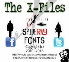 The X-Files font by SpideRaYsfoNtS - FontSpace