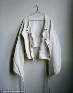 A discarded straightjacket at Logansport State Hospital in Indiana