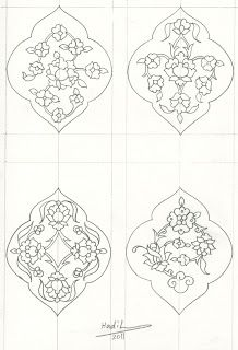Islamic Art - Hadil Tamim: Islamic Patterns by Hadil Tamim Islamic Art Pattern, Pattern Art, Zentangle Patterns, Embroidery Patterns, Arabian Pattern, Illumination Art, Arabesque Pattern, Islamic Art Calligraphy, Calligraphy Alphabet
