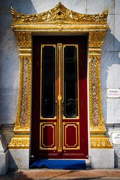 Golden door in Bangkok, Thailand.