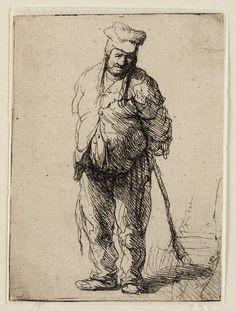 Mijn favoriete Rembrandt in Teylers Museum: Boer met stok (B172)