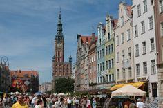 "Old Town of Gdansk, Poland. Princess ""Star"" Ship."