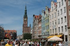 "Old Town of Gdansk, Poland. Princess ""Star"" Ship."