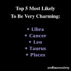 Zodiac signs: Top 5 Most Likely To Be Very Charming