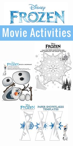 Disney's FROZEN Activities #DisneyFrozen