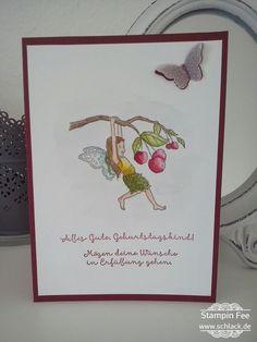 stampin fairy celebration birthday wishes Einfach zauberhaft Fee elfe cherrys kirschen