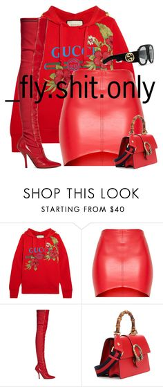 """""""Untitled #2934"""" by flyyshitonly ❤ liked on Polyvore featuring Gucci and Fendi"""