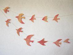 水晶と鳥のガーランド by uribou 家具・生活雑貨 インテリア雑貨