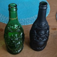 Lucky Buddha Beer- (1)drink (2)spray paint (3)put flowers in