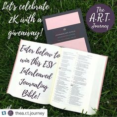 This is the interleaved Bible that I have been wanting! #theartjoirney2k #Repost @thea.r.t.journey with @repostapp.  I told you last week to be watching for a giveaway...HERE IT IS! I'm SO excited that over 2000 people on Instagram are hearing the word of God through my A.R.T. Journey. I never imagined that this little account would become such a big ministry in my life. So as a thank you to all my wonderful followers who encourage me and participate in the sharing of the gospel with me I am…