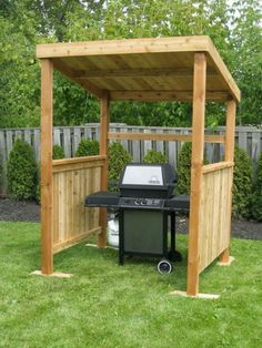 The pergola kits are the easiest and quickest way to build a garden pergola. There are lots of do it yourself pergola kits available to you so that anyone could easily put them together to construct a new structure at their backyard. Grill Gazebo, Backyard Gazebo, Backyard Landscaping, Grill Canopy, Outdoor Grill Area, Outdoor Cooking Area, Backyard Pavilion, Backyard Storage, Outdoor Gazebos