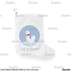 Let It Snow! (Arctic Fox) Small Christmas Stocking #fox #foxes #christmas #letitsnow #animals