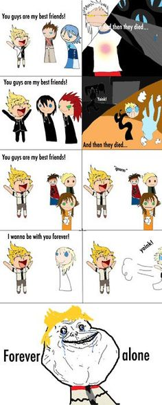 Poor Roxas! What sucks about him, is that he's fictional. So I can't give him a hug. :/ Isn't that the problem with every fictional character ever??