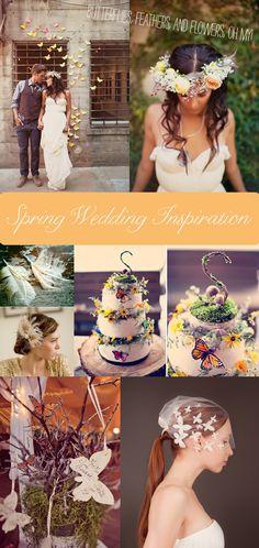 Butterflies, Feathers, & Flowers {Spring Wedding Inspiration}