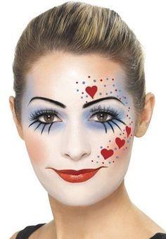 Set Maquillage Clown Méchant - Brenda O. Mime Makeup, Makeup Set, Costume Makeup, Makeup Ideas, Girl Clown Makeup, Clown Hair, Scary Makeup, Beauty Makeup, Halloween Makeup Looks