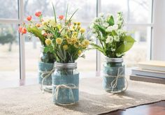 Floral Mason Jars