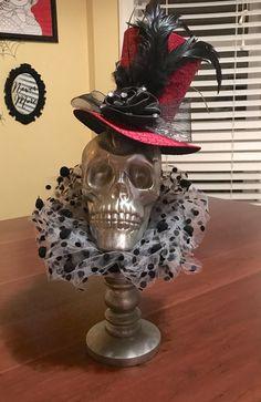 Dollar Tree Skull for Halloween