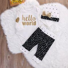 Baby Girl Hello World SET
