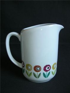 "Small Beautiful Pitcher ""BELLIS"" Karlskrona porcelain E Bladh-Stahl"