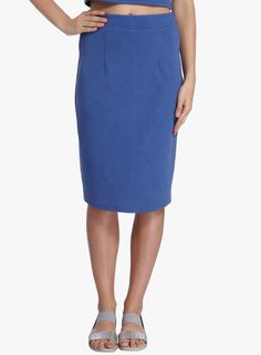 c1b28d4eff BLUE SOLID PENCIL SKIRT Designer Kurtis Online, Jodhpur, Indian Dresses,  Salwar Suits,