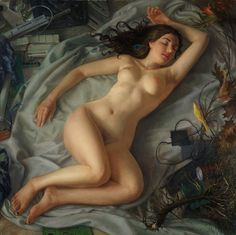 Patricia Watwood -Sleeping Venus, Oil on canvas, 40 x 40 inches, 2013