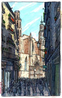 Santa Maria del Mar, Barcelona by Jaillus, via Flickr