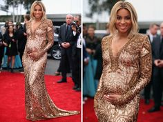 Ciara looks fabulous at the 2014 Grammy awards. Way to work that bump!
