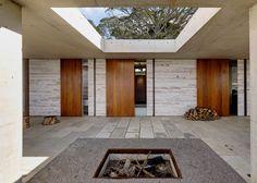 Peter Stutchbury | Invisible House; skylight, off form concrete, fire pit http://www.peterstutchbury.com.au/invisible-house_f.html