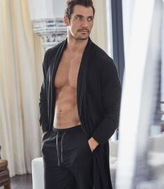 New HQ - David Gandy for Marks & Spencer 'Gandy for Autograph' Collection 2017 Photography: Hunter & Gatti Hair and grooming: Larry King David Gandy, Suit Fashion, Mens Fashion, Mens Sleepwear, Gorgeous Men, Beautiful, Male Models, Sexy Men, Lounge Wear