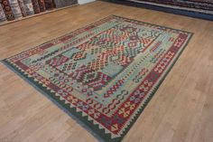 Hand Woven Mazar Kilim from Afghanistan. Length: 345.0cm by Width: 248.0cm. Only £566 at https://www.olneyrugs.co.uk/shop/kilims-for-sale/afghan-mazar-22008.html    Take a gander at our amazing array of Persian and Oriental rugs, carpets, kilim foot stools and Kilim cushions at www.olneyrugs.co.uk