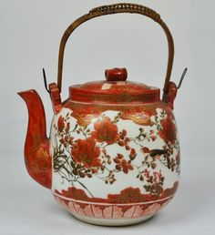 Buy online, view images and see past prices for A Japanese Kutani Porcelain Teapot. Invaluable is the world's largest marketplace for art, antiques, and collectibles. Japanese Porcelain, Fine Porcelain, Chocolate Pots, Chocolate Coffee, Ceramic Materials, Pot Sets, Kakao, Vintage Antiques, Tea Pots