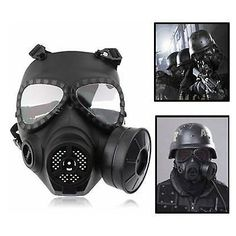 The Best High Quality 100% Natural Airsoft Latex Tactical Wargame Dummy Gas Protective Mask Cosplay Cs Game Face Head Mask Cosplay Toys Sale Overall Discount 50-70% Festive & Party Supplies